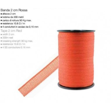 Tape electrical red 200 mt - H 2 cm