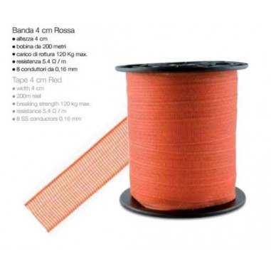 Tape electrical red 200 mt - H 4 cm