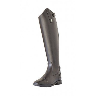 Boots in real leather with zip and elastic, Derby
