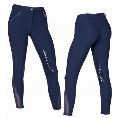 Women's pants with patch silicone