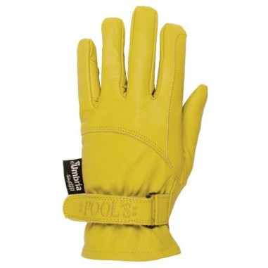Gloves western riding hook and loop closure