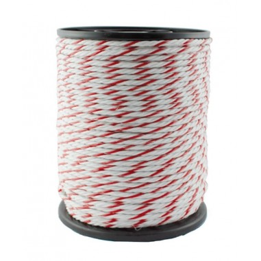 Rope electric 6 mm 200 m white/red