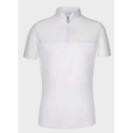Zip Polo w/Perforated Sleeves And Back Cavalleria Toscana