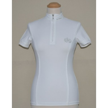 Polo-race woman with zipper Sarm Hippique